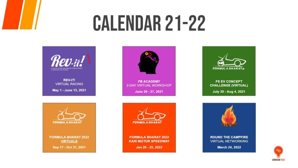 2022 Events Calendar.Events Announcement For 2021 2022 Season Formula Bharat